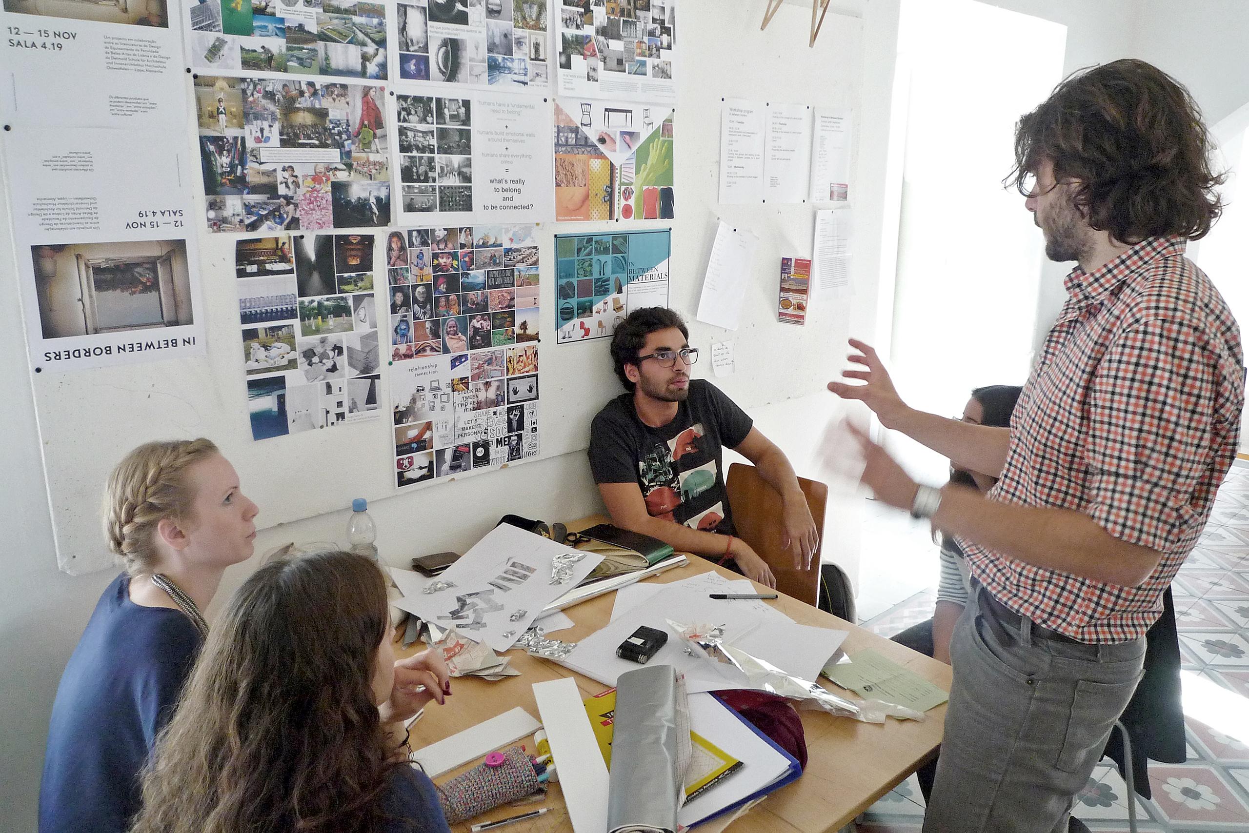Workshop at the FBAUL | Photo: Clara Walter
