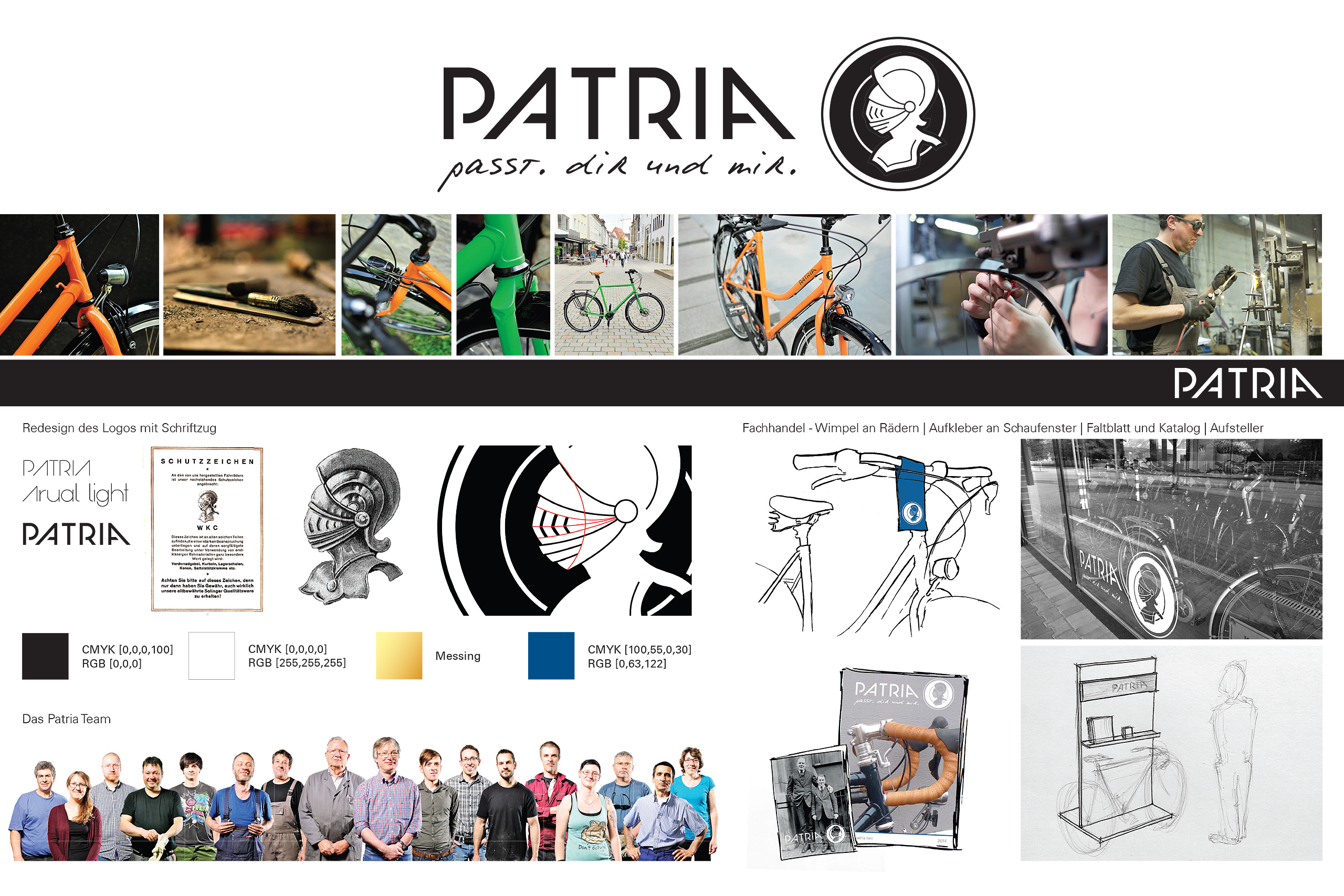 Patria Redesign (old CI and CD) – Birte Franz (BA) | Photos and Illustrations: Birte Franz
