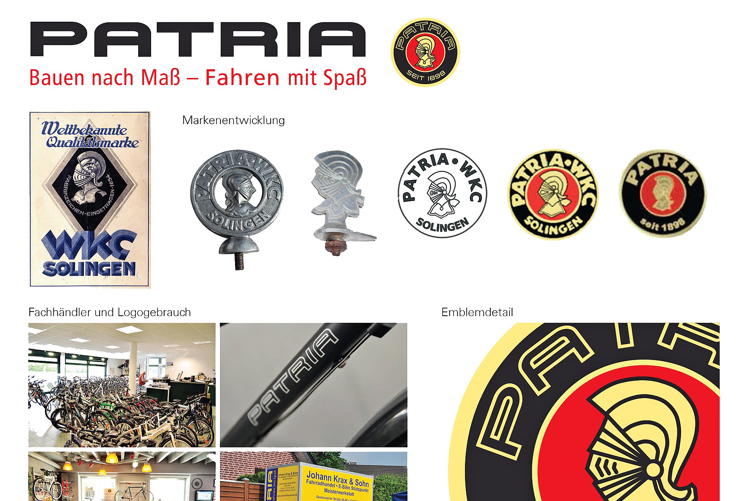 Patria Redesign (old CI and CD) – Birte Franz (BA)   Photos and Illustrations: Birte Franz