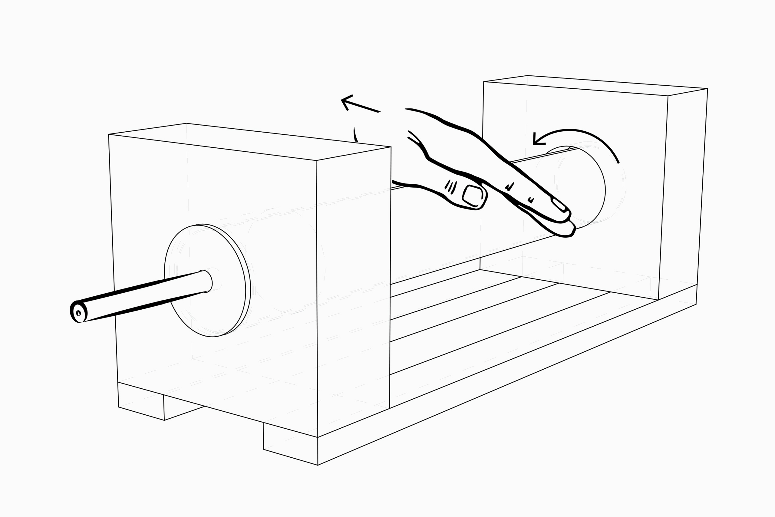 Anspitzer – Pencil Sharpener for Peoiple with Movement Disorders – Henrike Joana Cohrs | Drawing: Henrike Joana Cohrs