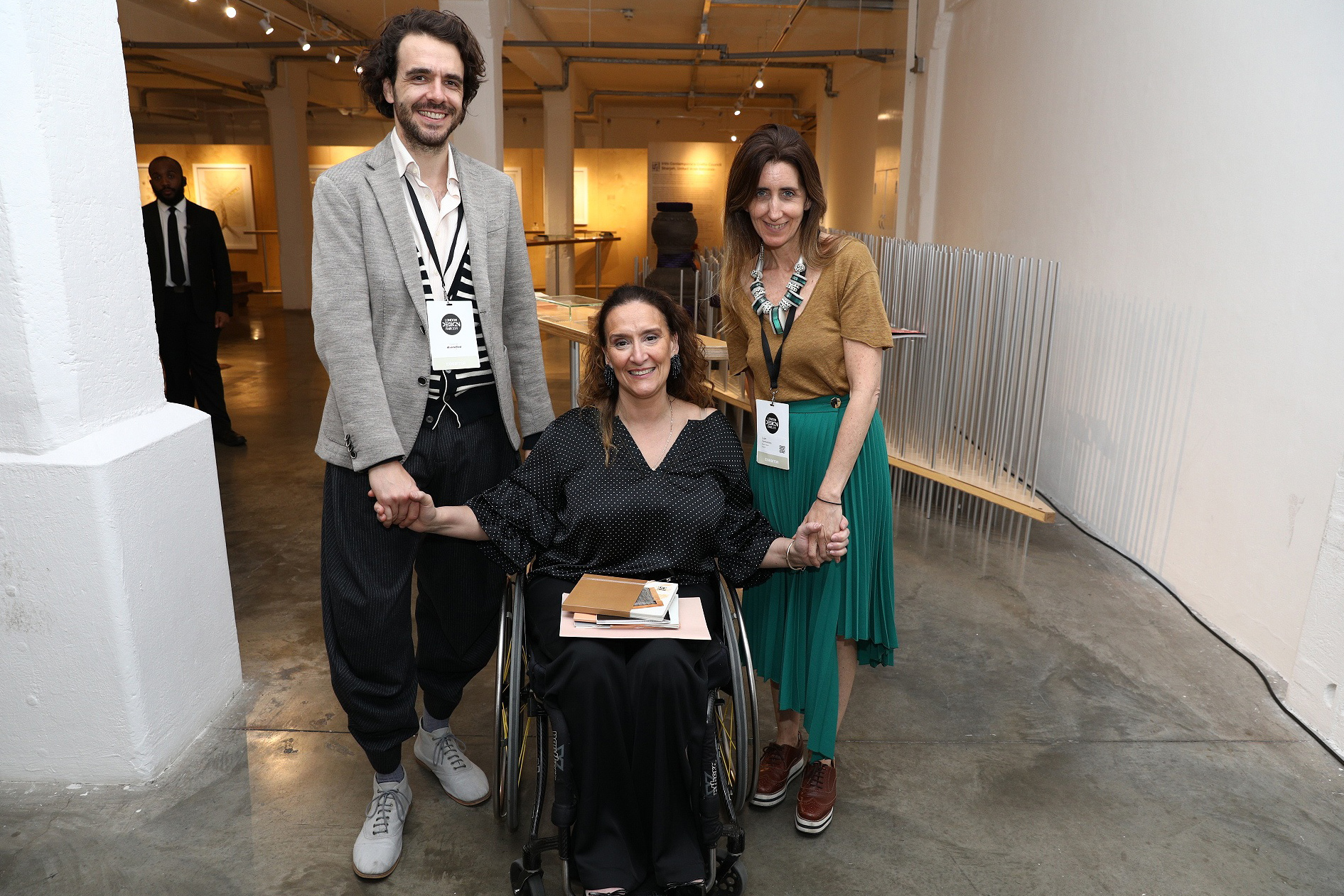 Together with the Vice-President of Argentina Gabriela Michetti and the curator of Saber Hacer Luján Cambariere